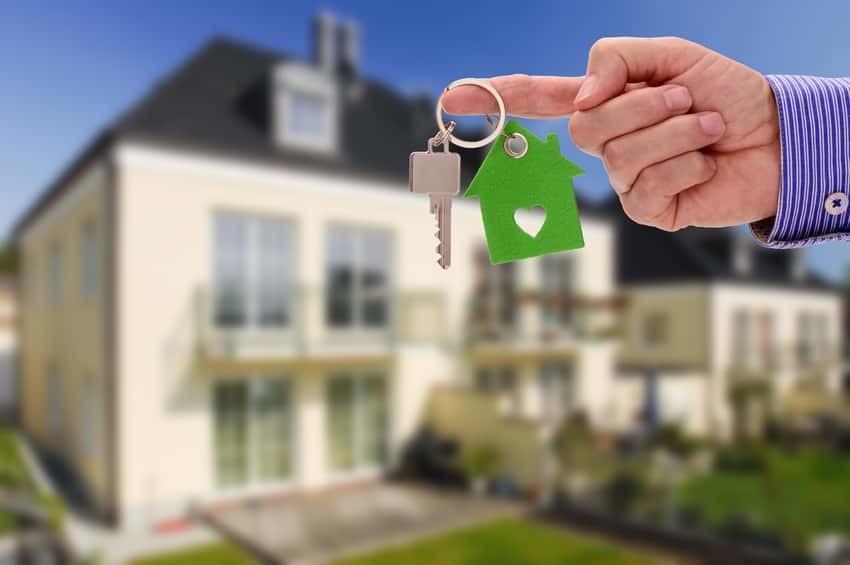 Immobilien Darlehen Schlüssel Bild